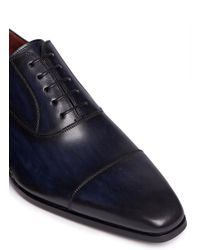 Saks Fifth Avenue - Blue Artesano Sole Leather Oxfords for Men - Lyst