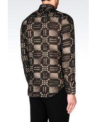 Emporio Armani   Black Shirt In Modal Blend for Men   Lyst