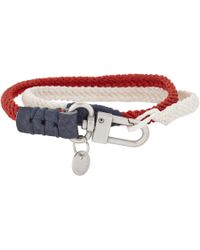 Caputo & Co. - Red Twotone Wrap Bracelet for Men - Lyst