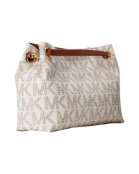 MICHAEL Michael Kors - White Jet Set Chain Item Medium Messenger - Lyst
