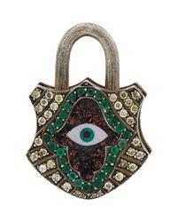 Sevan Biçakci | Metallic Multi Gemstone Hamsa Padlock | Lyst