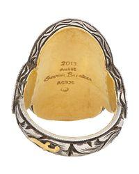 Sevan Biçakci - Brown Multi Gemstone, Gold & Silver Chick Intaglio Ring - Lyst
