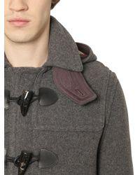 Burberry Brit | Gray Wool Duffle Coat | Lyst