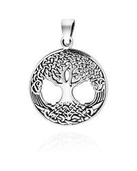 Aeravida - Metallic Amazing Rare Celtic Tree Of Life Sterling Silver Pendant - Lyst