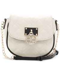 Guess | Natural Aliza Quilted Crossbody | Lyst