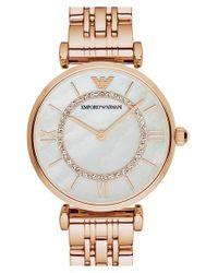 Emporio Armani - Pink Bracelet Watch for Men - Lyst