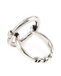 Hoorsenbuhs | Metallic 'ss' Oval Ring | Lyst