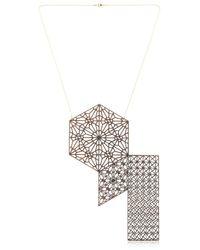 Lotocoho | Metallic Alhambra Combo Pendant Necklace Ii | Lyst