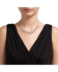 John Lewis | Metallic Cubic Zirconia Zig Zag Necklace And Earring Set | Lyst
