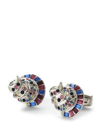 Duchamp - Metallic Silver-Tone Shell Cuff Links for Men - Lyst