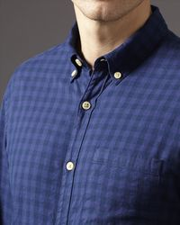 Jaeger - Blue Flannel Check Shirt for Men - Lyst