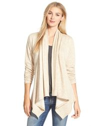 Bobeau | Natural Peplum Back Open Front Cardigan | Lyst