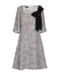 Elisabetta Franchi | Gray Short Dress | Lyst