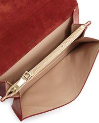 Chloé - Red Gabrielle Lambskin Clutch Bag - Lyst