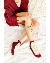 Urban Outfitters | Red Geo Patterned Anklet Sock | Lyst