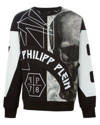 Philipp Plein - Black 'rampant' Hoodie for Men - Lyst