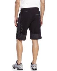 DKNY | Black Terry Knit Drawstring Shorts for Men | Lyst