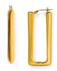 Diane von Furstenberg | Metallic Rectangle Hoop Earrings | Lyst