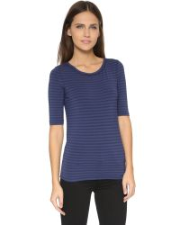 Free People | Blue Striped Leader Of The Pack Tee | Lyst