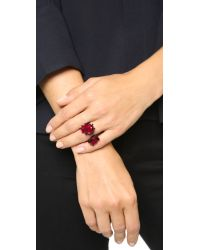 Oscar de la Renta | Pear Stone Ring - Red/black | Lyst
