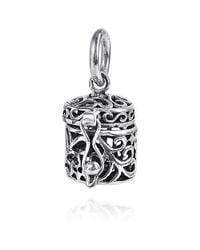 Aeravida - Metallic See Through Filigree Ornate Prayer Box.925 Silver Pendant Or Charm - Lyst