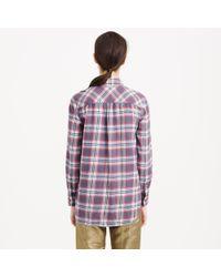 J.Crew | Red Tall Boyfriend Flannel Shirt In Dark Plaid | Lyst