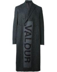 Alexander McQueen - Gray 'valour' Overcoat for Men - Lyst