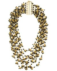 Rosantica | Black Multi Strand Beaded Necklace | Lyst
