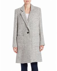 Zac Zac Posen | Gray Single-breasted Wool-blend Coat | Lyst