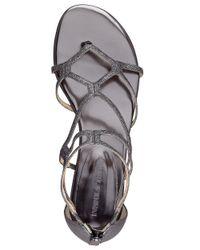 Ivanka Trump | Metallic Beauty Caged Sandals | Lyst