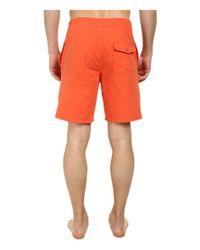 """Lacoste - Orange Poplin Board Swim Short 8"""" for Men - Lyst"""