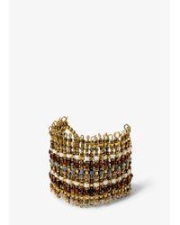 Mango | Metallic Metal Bead Bracelet | Lyst