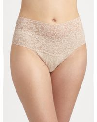 Hanky Panky | Natural Plus Size Retro Lace V-kini Thong | Lyst