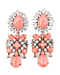 Shourouk | Pink 'Blondie' Earrings | Lyst