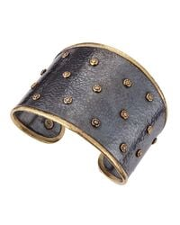 Gurhan | Metallic Diamond-Station Mixed-Metal Cuff | Lyst