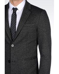 Emporio Armani | Gray Jersey Jacket for Men | Lyst