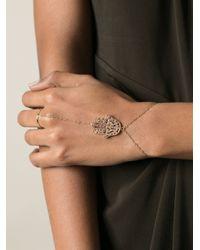 Natasha Zinko | Metallic Hamsa Bracelet | Lyst
