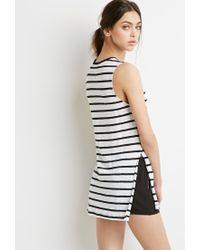 Forever 21 - Black Striped Linen Tank - Lyst