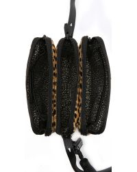 Loeffler Randall - Multicolor Haircalf Triple Zip Bag - Cheetah - Lyst