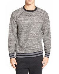 Threads For Thought | Gray Space Dye Crewneck Sweatshirt for Men | Lyst
