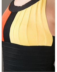 Hervé Léger - Black Block Colour Bandeau Dress - Lyst