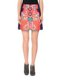 Mary Katrantzou - Blue Mini Skirt - Lyst