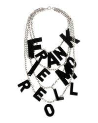Frankie Morello - Metallic Necklace - Lyst
