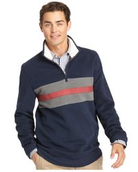 Izod | Blue Suede Fleece Quarter-zip Pullover for Men | Lyst