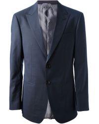 Giorgio Armani - Gray Two Button Suit for Men - Lyst