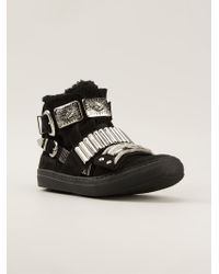 Toga Pulla | Black Buckled Ankle Boots | Lyst