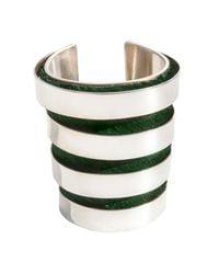 Isabel Englebert | Green London Spiral Cuff Silver | Lyst