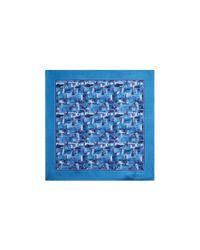 Ferragamo | Blue Florence Skyline Pocket Square | Lyst