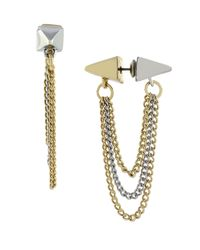BCBGeneration | Metallic Two-Tone Tunnel Earrings | Lyst