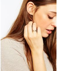 ASOS - Metallic Twister Ring - Lyst